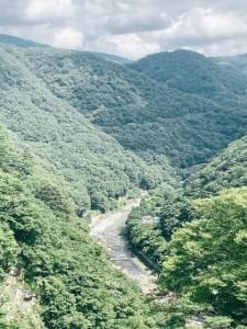 五十里ダムからの景色